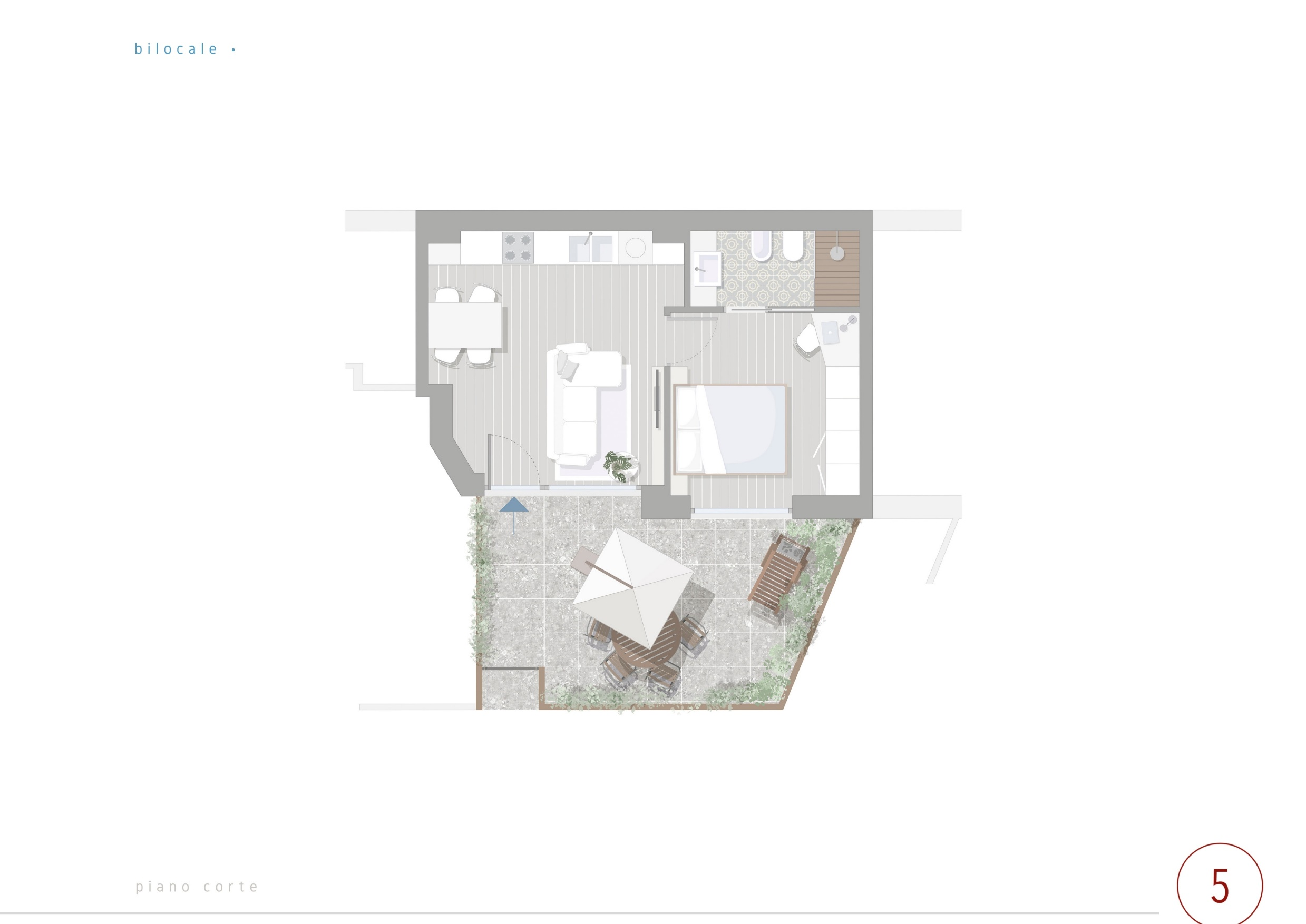 Planimetria del apartamento